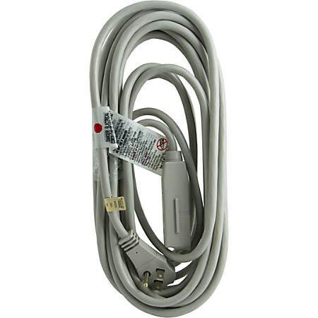 ge 3 outlet extension cord 25 gray by office depot officemax. Black Bedroom Furniture Sets. Home Design Ideas