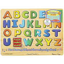 Melissa Doug Alphabet Sound Puzzle Pre