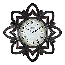 FirsTime Co Rosette Plastic Wall Clock