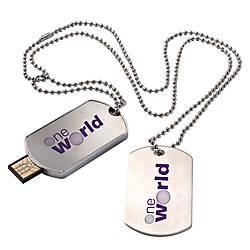 Dog Tag USB 20 Flash Drive
