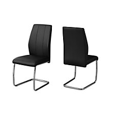 Monarch Specialties Sebastian Dining Chairs BlackChrome