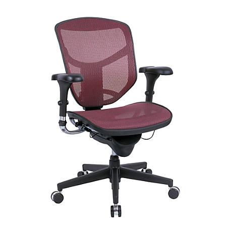 WorkPro® Quantum 9000 Series Ergonomic Mid-Back Mesh/Mesh Chair, Red/Black