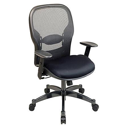 "Office Star™ Professional Matrex® Mesh Chair, 46 1/4""H x 27 1/4""W x 25 3/4""D, Gunmetal Frame, Black Fabric"