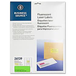 Business Source 1 Fluorescent Laser Labels