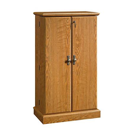 Sauder® Orchard Hills Multimedia Storage Cabinet, 4 Shelves, Carolina Oak