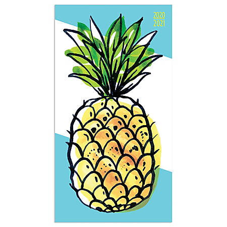 """TF Publishing 24-Month Monthly Pocket Planner, 3-1/2"""" x 6-1/2"""", Pineapple, January 2020 To December 2021"""