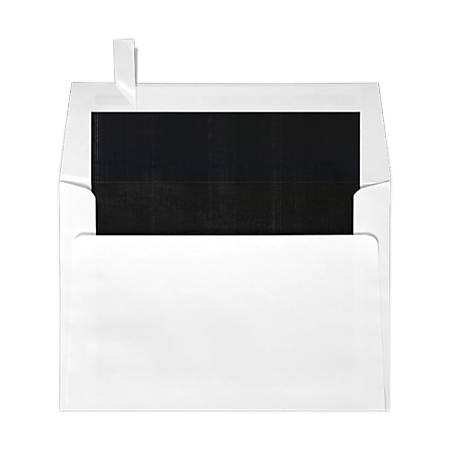 "LUX Square Envelopes With Peel & Press Closure, 6 1/2"" x 6 1/2"", Black/White, Pack Of 50"