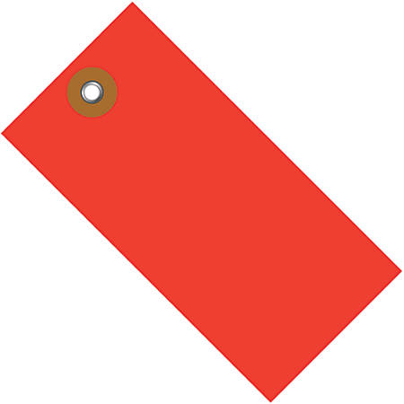 """Office Depot® Brand Tyvek® Shipping Tags, 3 1/4"""" x 1 5/8"""", Red, Case Of 100"""