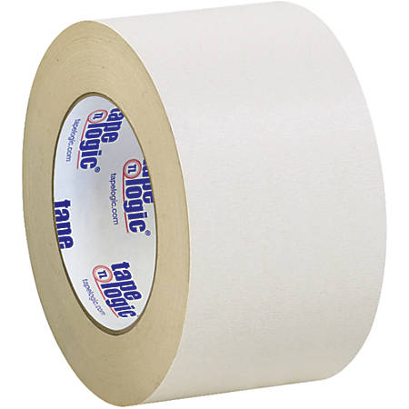"Tape Logic® Double-Sided Masking Tape, 3"" Core, 3"" x 108', Tan, Case Of 3"