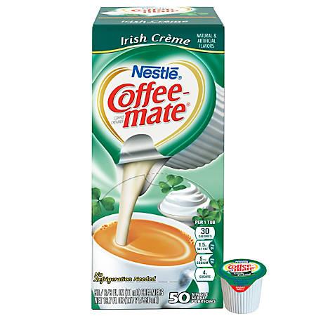 Nestle® Coffee-mate® Liquid Creamer Singles, Irish Creme, 0.38 Oz, Box Of 50
