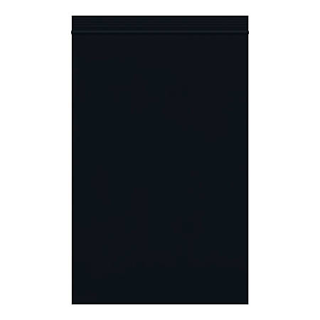 """Office Depot® Brand Reclosable Poly Bags, 6"""" x 9"""", Black, Case Of 1,000 Bags"""