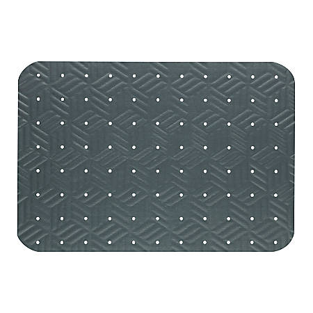 "The Andersen Company Wet Step Antifatigue Floor Mat, 24"" x 36"", Gray"