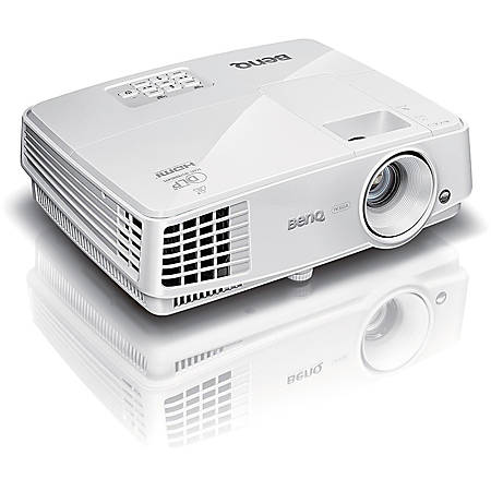 BenQ MX707 3D Ready DLP Projector - 4:3 - White - 1024 x 768 - Ceiling, Front - 720p - 5000 Hour Normal Mode - 10000 Hour Economy Mode - XGA - 10,000:1 - 3500 lm - HDMI - USB