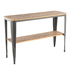 Lumisource Oregon Industrial Console Table Rectangular