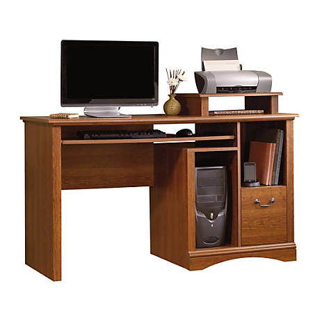 Sauder® Camden County Computer Desk, Planked Cherry