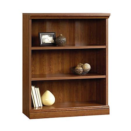 Sauder® Camden County Bookcase, 3 Shelves, Planked Cherry