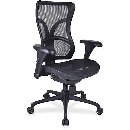 Lorell® Mesh High-Back Chair, Black