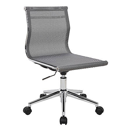 LumiSource Mirage Fabric Industrial Office Chair, Silver/Chrome