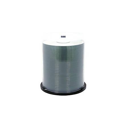 Verbatim CD-R 700MB 52X Shiny Silver Silk Screen Printable, Hub Printable - 100pk Spindle