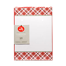 Gartner Studios Red Plaid Invitations 5
