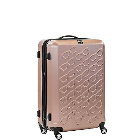 "ful Sunglasses ABS Upright Rolling Suitcase, 21""H x 14""W x 9""D, Gold"