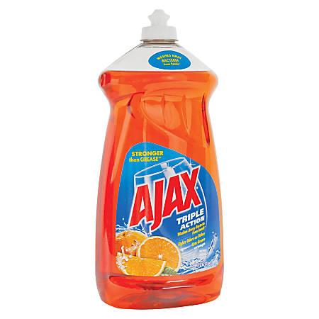 Ajax Triple-Action Dishwashing Liquid, 52 Oz, Orange