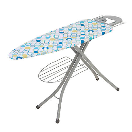 """Honey-Can-Do Ironing Board With Iron Rest And Shelf, 48""""H x 18""""W x 18""""D"""
