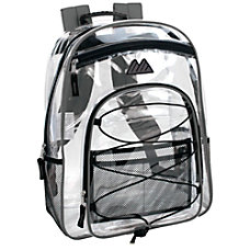 Trailmaker Water Resistant Clear Backpack Gray