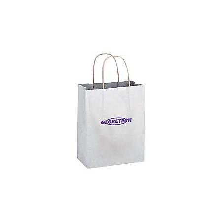 "Large White Paper Shopping Bag, 13""H x 10""W x 5"" Gusset"