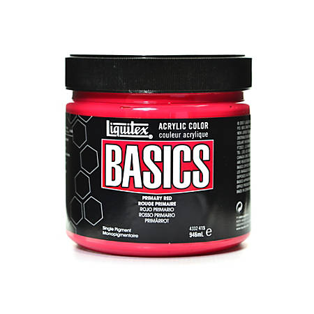 Liquitex Basics Acrylic Paint, 32 Oz Jar, Primary Red