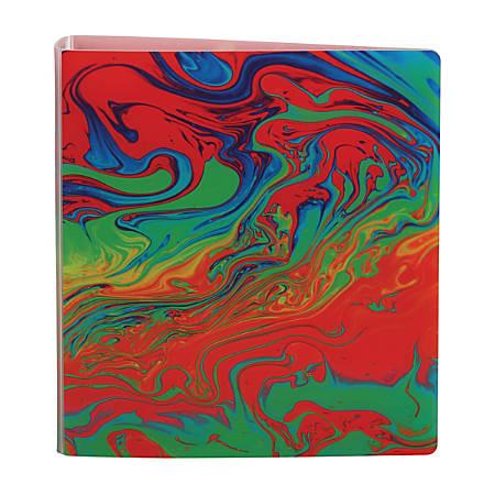 "Office Depot® Brand EverBind™ D-Ring View Binder, 1 1/2"" Rings, Liquid Rainbow"