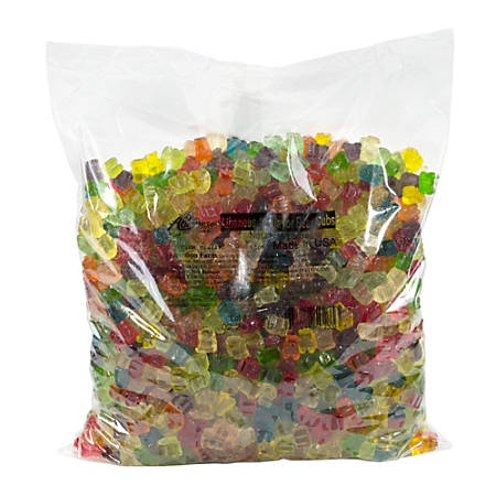Albanese Confectionery Gummies, Assorted Mini Gummy Bear Cubs, 5-Lb Bag