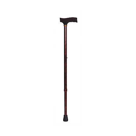 "DMI® Adjustable Derby-Top Handle Aluminum Walking Cane, 31"" - 40"", Wood Grain"