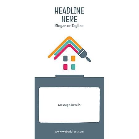 Custom Vertical Banner, Paint House