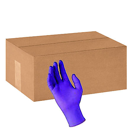 Purple Nitrile Sterile Pairs Exam Gloves, Medium, Box Of 50