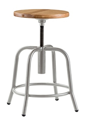 Admirable National Public Seating 6800 Height Adjustable Swivel Stool Wood Gray Item 8496543 Ibusinesslaw Wood Chair Design Ideas Ibusinesslaworg