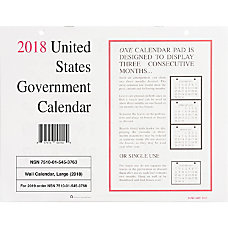 UNICOR Monthly Wall Calendars 8 12