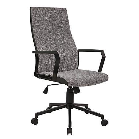 Lumisource Congress Chair, Gray/Chrome
