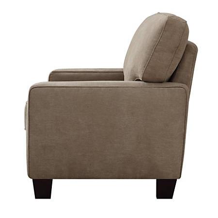 Remarkable Serta Deep Seating Palisades Sofa 78 Tan Espresso Item 849720 Unemploymentrelief Wooden Chair Designs For Living Room Unemploymentrelieforg
