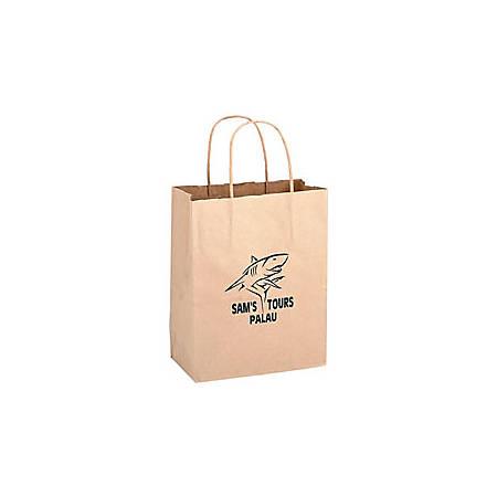 """Large Kraft Paper Shopping Bag, 13""""H x 10""""W x 5"""" Gusset"""