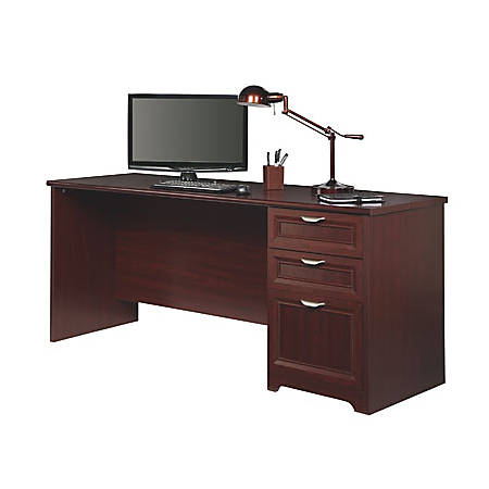 "Realspace® Magellan Performance 71""W Straight Desk, Cherry"