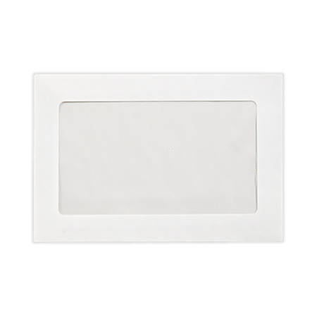 """LUX Full-Face Window Envelopes With Peel & Press Closure, #6 1/2, 6"""" x 9"""", Bright White, Pack Of 50"""