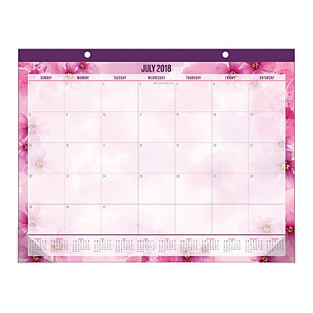 office depot brand large monthly academic desk pad calendar 22 x 17