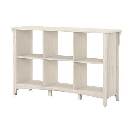 Bush Furniture Salinas 6 Cube Organizer, Antique White, Standard Delivery