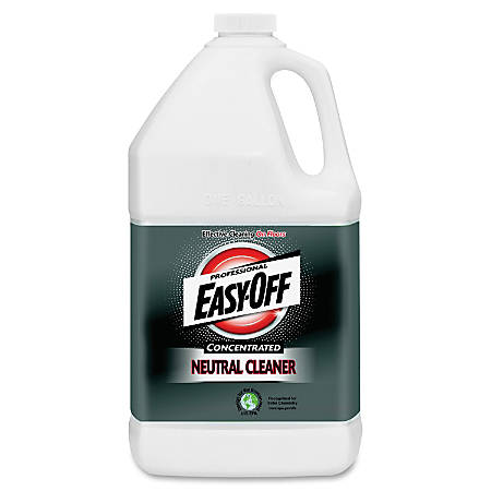 Easy-Off Prof. Neutral Cleaner - Concentrate Liquid - 1 gal (128 fl oz) - Neutral Scent - 2 / Carton - Blue