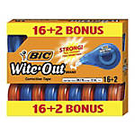 "BIC® Wite-Out® Brand EZ Correct Correction Tapes, 471-3/5"", Pack Of 18 Tapes"