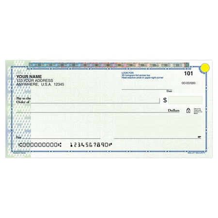 harland clarke high security personal wallet checks 6 x 2 34 2 part ...