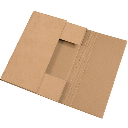 """Office Depot® Brand Easy Fold Mailers, 18"""" x 12"""" x 2"""", Kraft, Pack Of 50"""