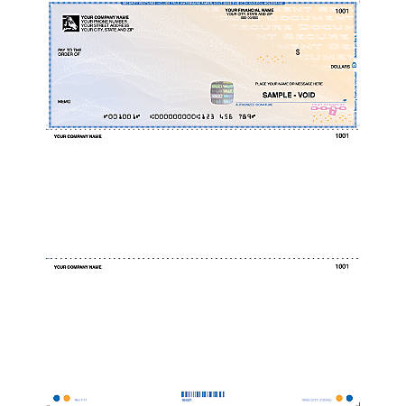 Custom High Security Laser Multipurpose Checks Without Lines For Quicken®, QuickBooks®, Microsoft Money® And Simply Money® Box Of 250
