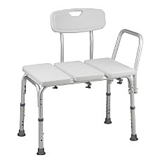HealthSmart Transfer Shower Chair With Adjustable